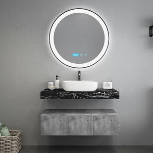 Best Black Marble Countertops Unique Bathroom Vanities , Touch Mirror Bathroom Sink Vanity Unit wholesale