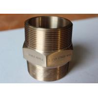 China Precision Fittings And Flanges Copper Alloys Double Nipple Auto Parts ISO9001 on sale