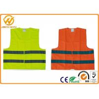 Best High Visibility Polyester Reflective Safety Vests FluorescentOrange / Yellow wholesale