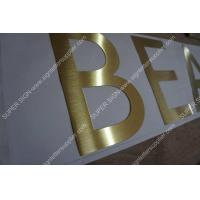 Buy cheap golden brushed steel lettering from wholesalers