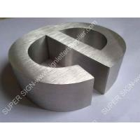 Buy cheap Brushed stainless steel letters 01 from wholesalers