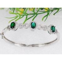 Buy cheap Micro Pave end emerald bracelet from wholesalers