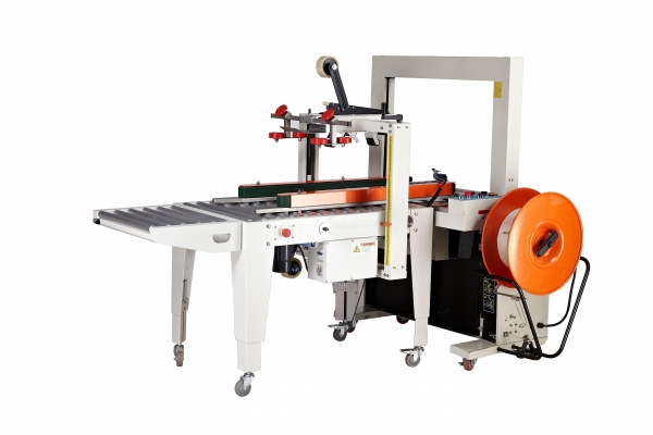 Cheap automatic tape sealing & belt strapping machine for sale