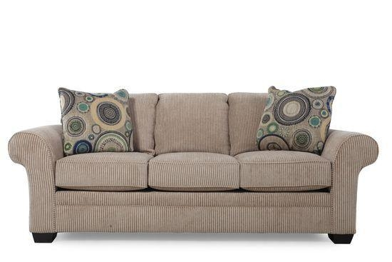 Cheap Broyhill Zachary Brown Sofa for sale