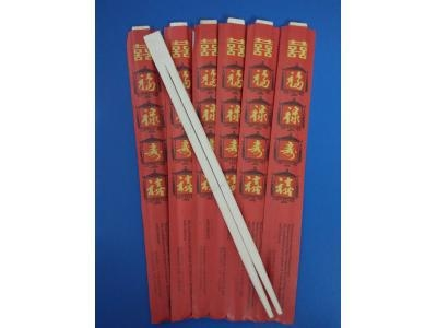 Cheap Twin bamboo chopsticks with Red Envelope for sale