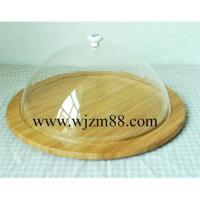 Best CBQ022 Bamboo cheese cutting board with acrylic cover wholesale