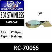 Buy cheap Rain Caps 7'' Stainless Steel Exhaust Rain Cap RC-700SS from wholesalers