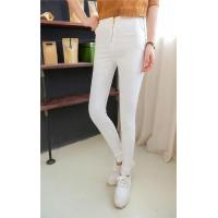 Quality SH-225 Ladies' slim pencil pants with visible golden zipper at front wholesale