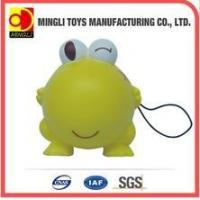 Best PU Stress Toys Factory custom Mini keychain frog Cartoon action figures for baby toy wholesale