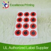 Best Self adhesive red label,label sticker,printed label wholesale