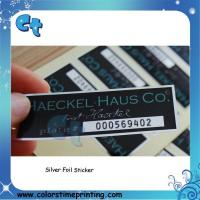 Best Custom printing glossy silver sticker with high quality wholesale
