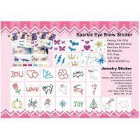 Best sparkle eye brow sticker wholesale
