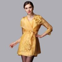 Women's embroideried organza dress spring and summer new arrival three quarter