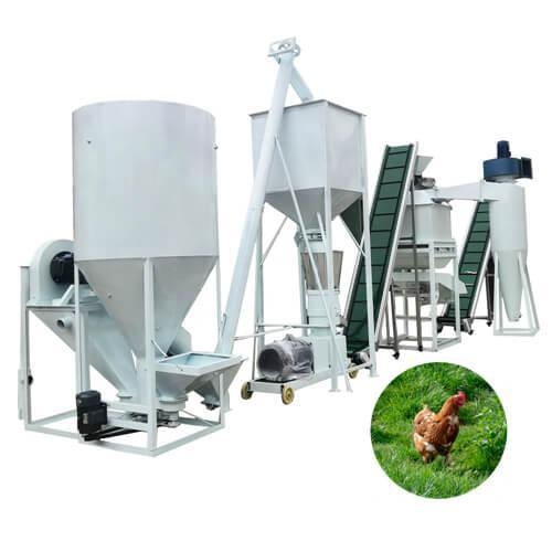 China Small poultry feed production plant, cattle feed pellet mill plant
