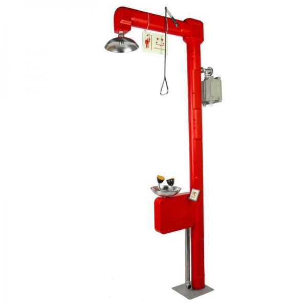 China Heat Traced Emergency Shower and Eyewashes, with ABS Shell, Model: ESW010HT