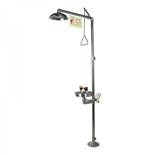 China Emergency Shower and Eyewashes, Stainless Steel, High Configuration, Model: ESW010MH