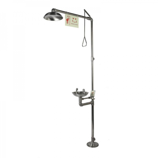 China Emergency Shower and Eyewashes, Stainless Steel, Low-level Configuration, Model: ESW010ML