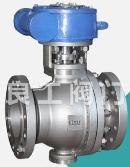 China Stainless Steel Trunnion Ball Valve, DN40-DN600, 1.6-25 MPa