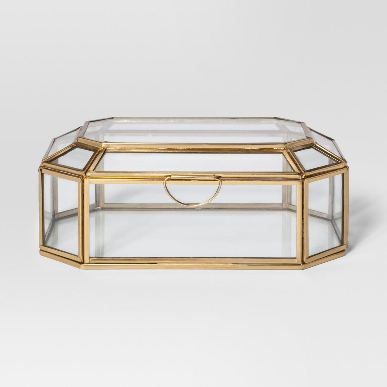 Best Glass and Gold Display Box wholesale